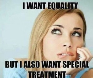 woman wants equality special treatment