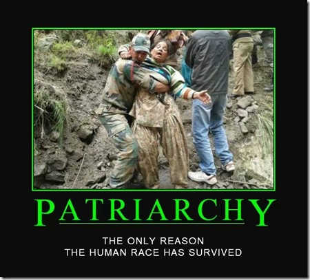 Patriarchy human race survived
