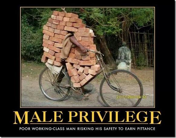 man bicycle brick load