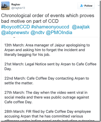 Jaipur-Cafe-Coffee-Day-Sequence-Of-Events-Cockroaches