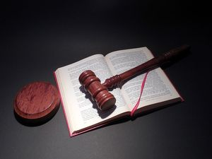 law book with gavel