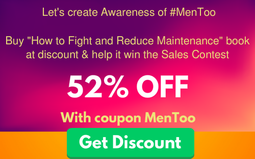Support #MenToo Maintenance Book Discount Coupon