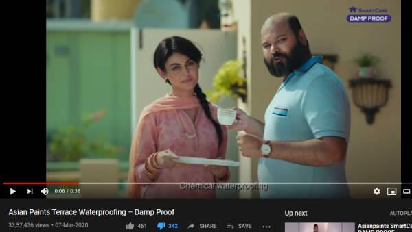 Asian Paints Damp Proof Advertisement Snapshot