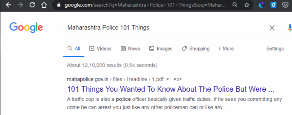 Maharashtra-Police-101-Things-Google-Result