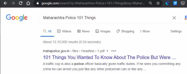 Maharashtra-Police-101-Things-Google-Result