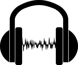 headset audio wave image